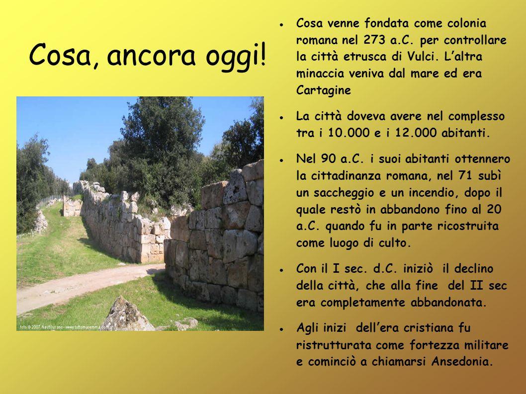Cosa venne fondata come colonia romana nel 273 a. C