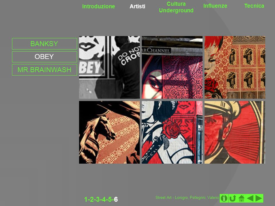 BANKSY OBEY MR.BRAINWASH 1-2-3-4-5-6 Cultura Underground Introduzione