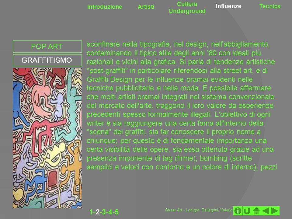 Cultura UndergroundIntroduzione. Artisti. Influenze. Tecnica.