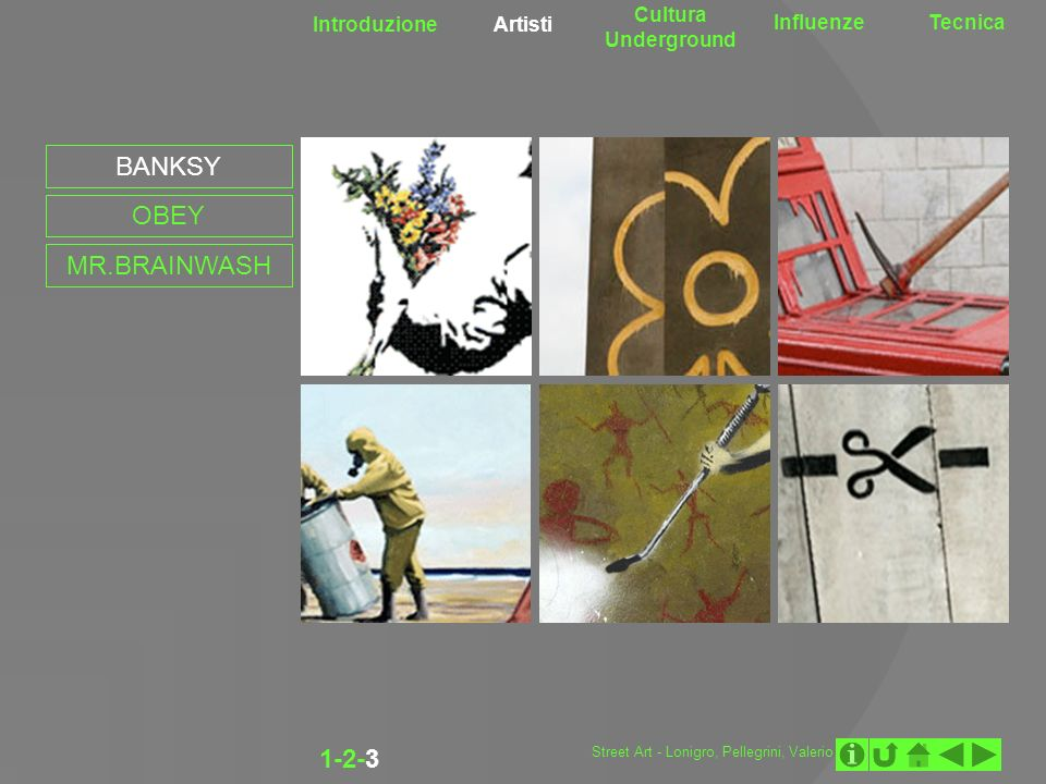 BANKSY OBEY MR.BRAINWASH 1-2-3 Cultura Underground Introduzione