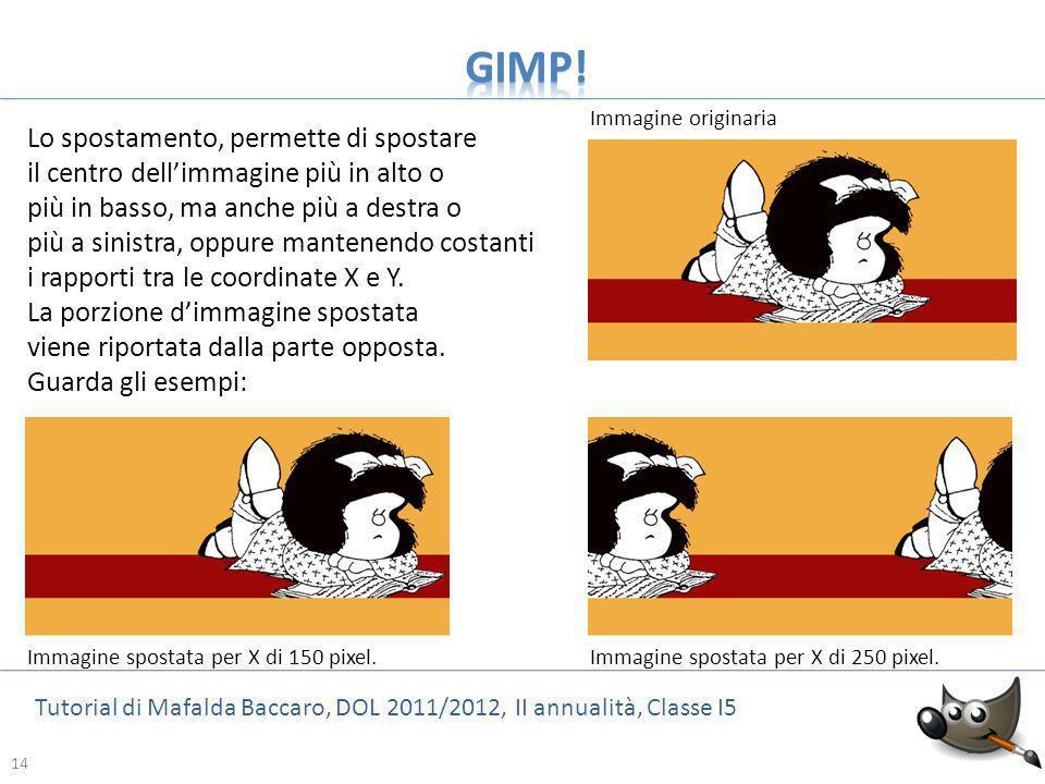 GIMP! Lo spostamento, permette di spostare