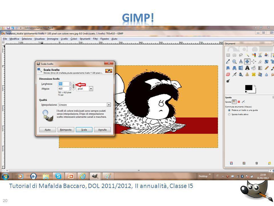 GIMP! Tutorial di Mafalda Baccaro, DOL 2011/2012, II annualità, Classe I5 20
