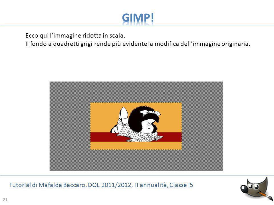 GIMP! Ecco qui l'immagine ridotta in scala.