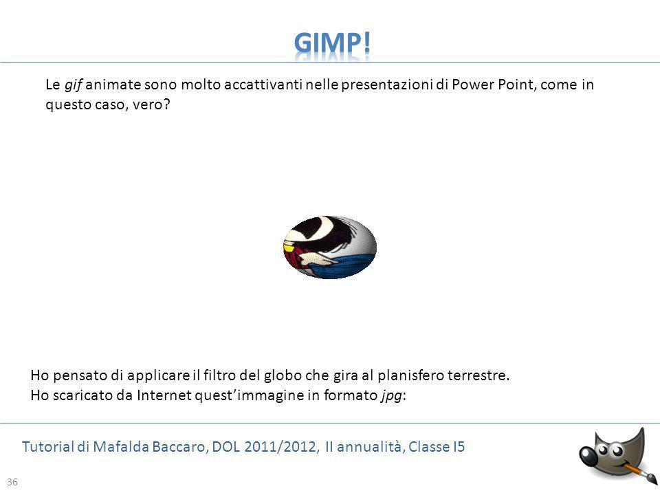 GIMP! Le gif animate sono molto accattivanti nelle presentazioni di Power Point, come in questo caso, vero