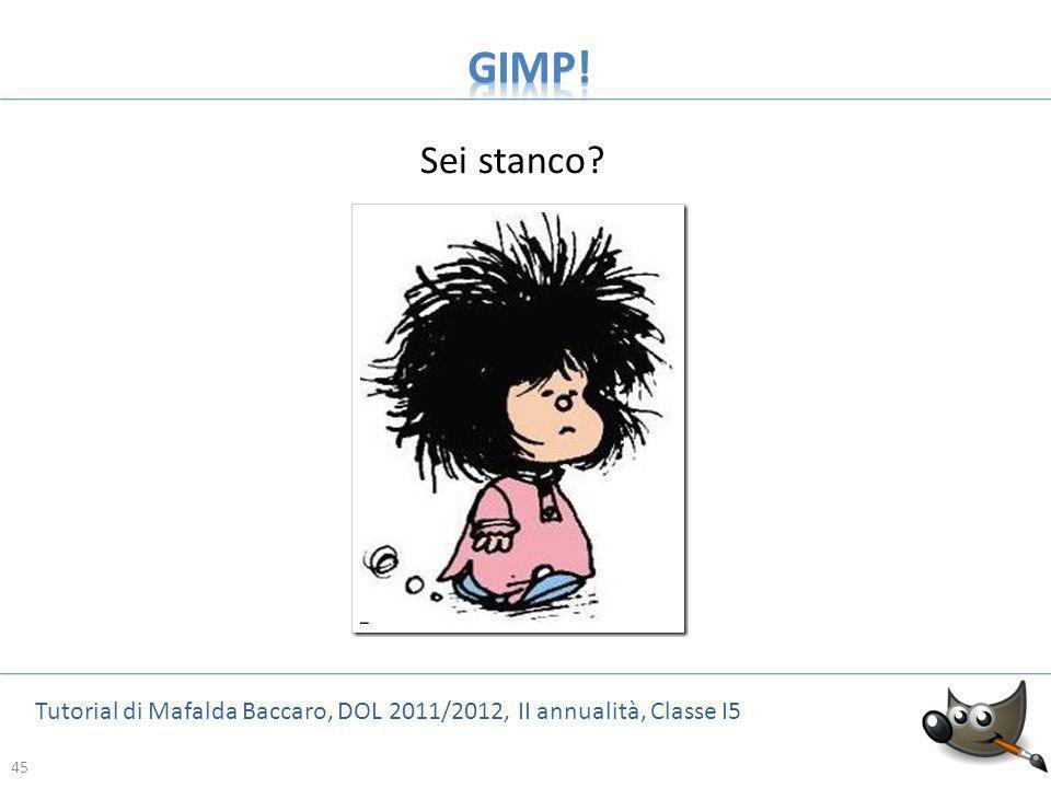 GIMP! Sei stanco Tutorial di Mafalda Baccaro, DOL 2011/2012, II annualità, Classe I5 45