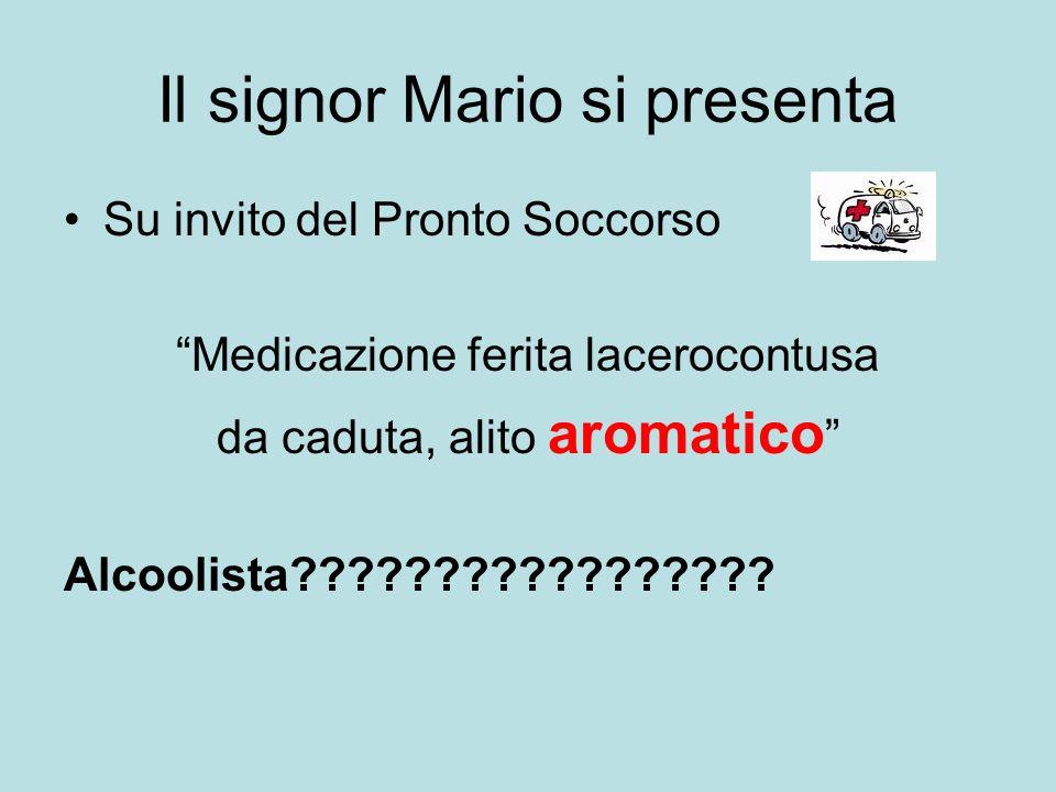 Il signor Mario si presenta