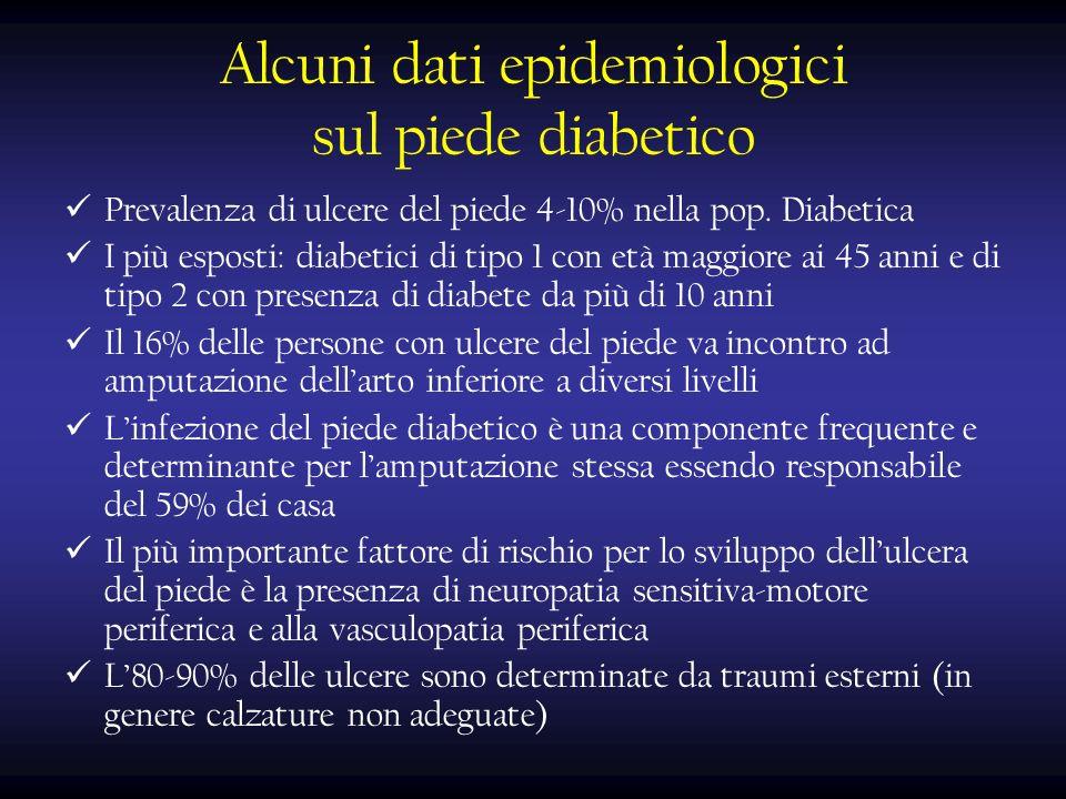 Alcuni dati epidemiologici sul piede diabetico
