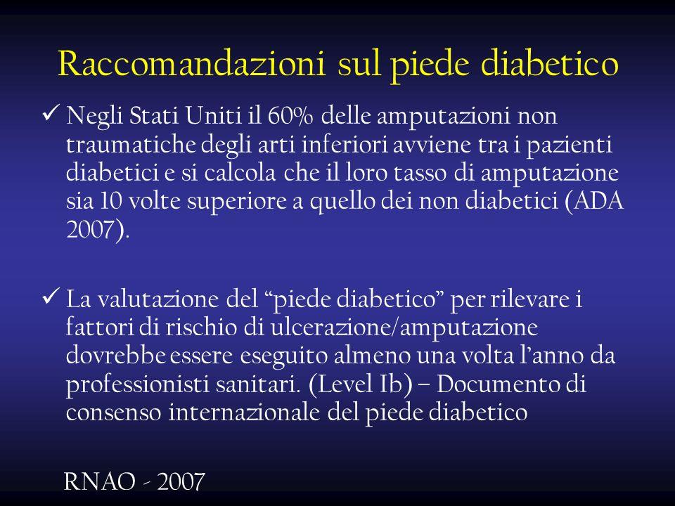 Raccomandazioni sul piede diabetico
