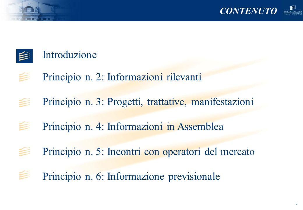 Principio n. 2: Informazioni rilevanti