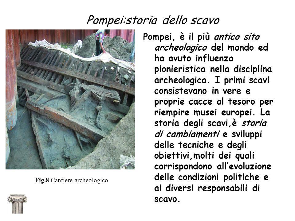 Pompei:storia dello scavo