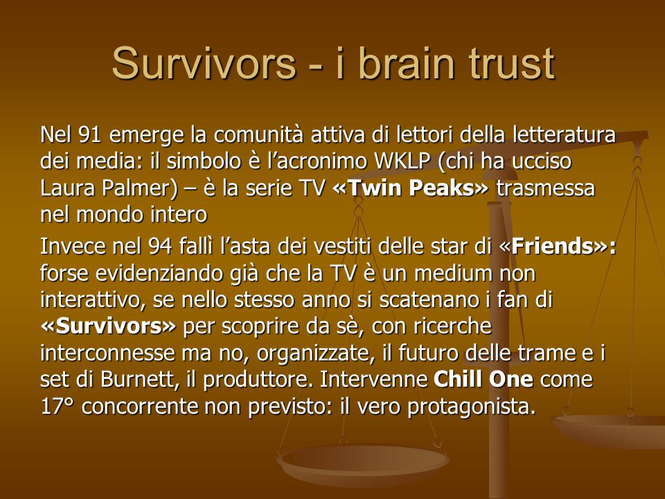 Survivors - i brain trust