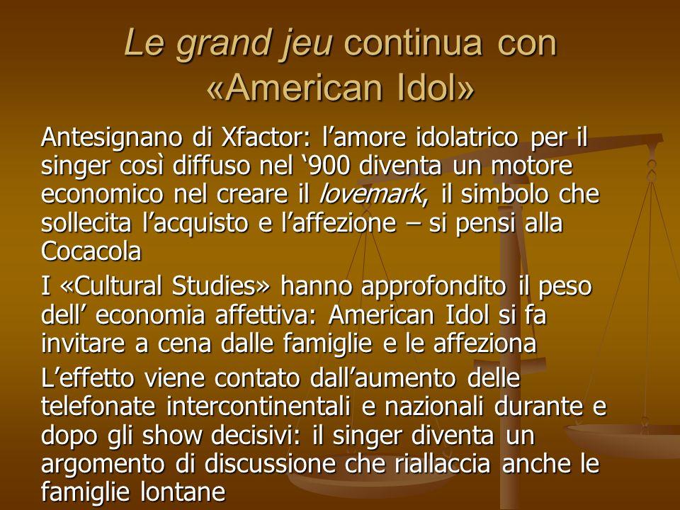 Le grand jeu continua con «American Idol»