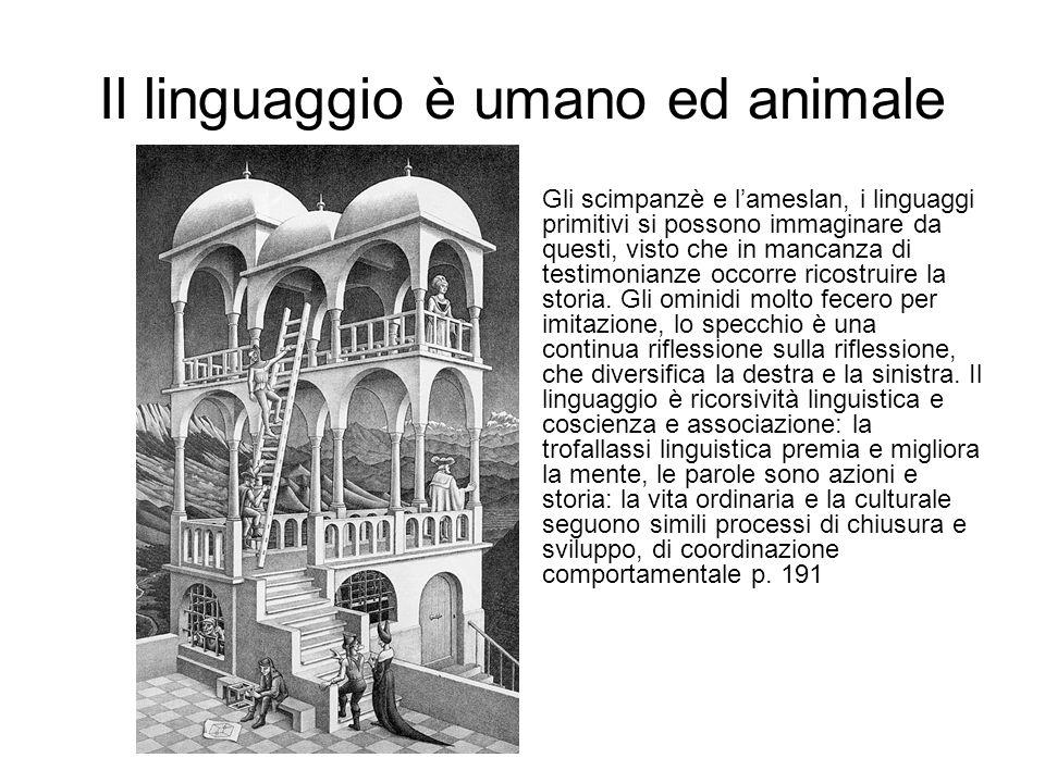 Il linguaggio è umano ed animale