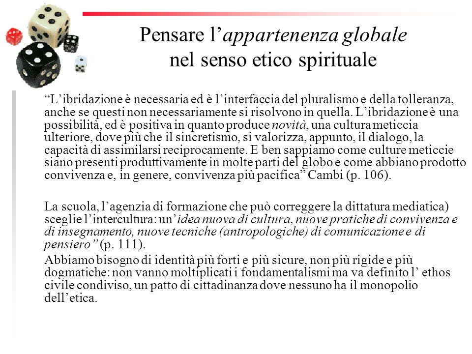 Pensare l'appartenenza globale nel senso etico spirituale