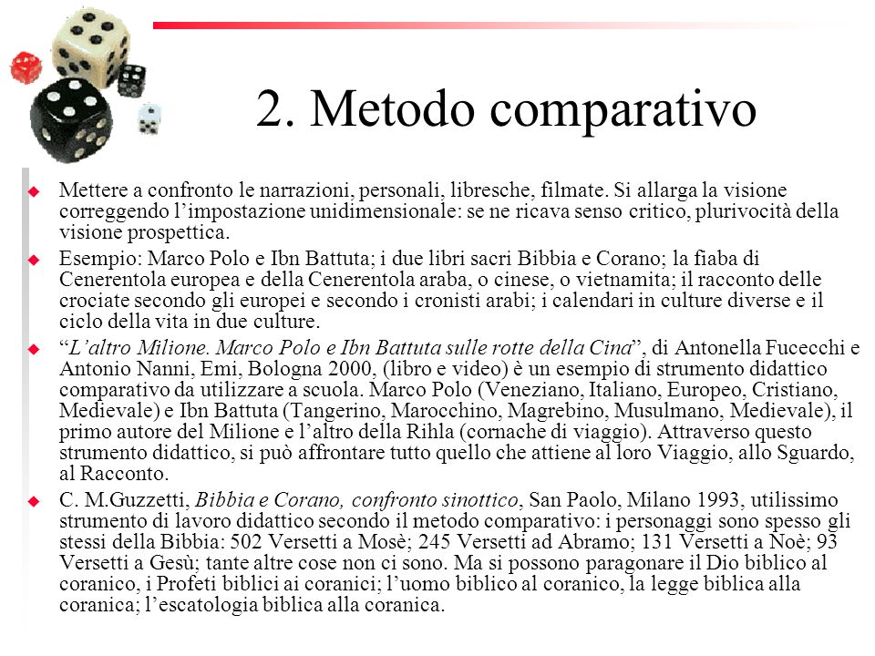 2. Metodo comparativo