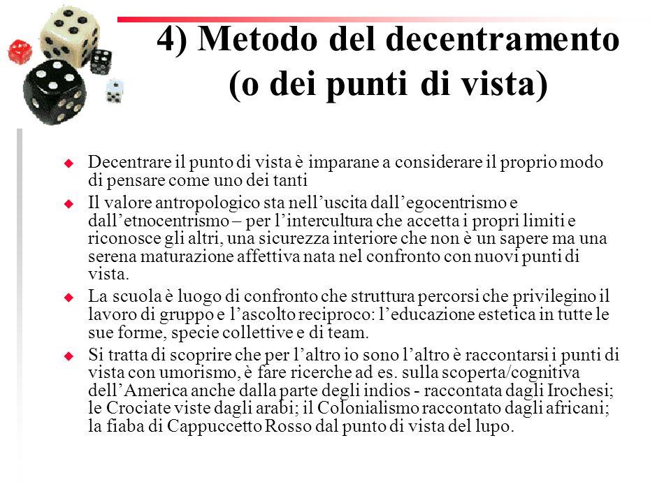 4) Metodo del decentramento (o dei punti di vista)