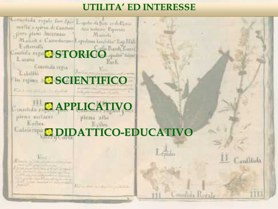 STORICO SCIENTIFICO APPLICATIVO DIDATTICO-EDUCATIVO