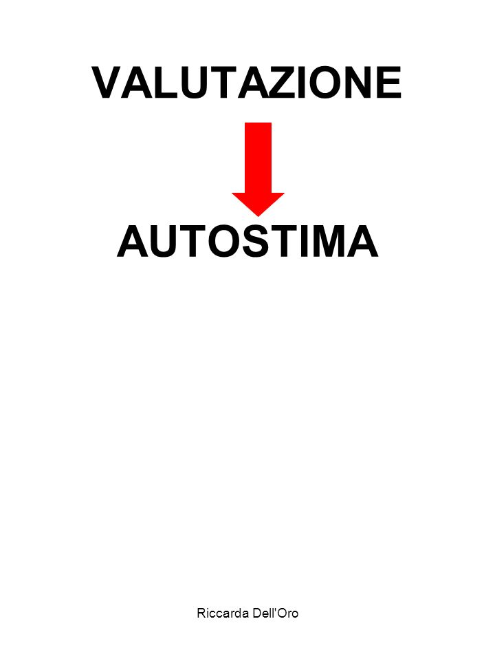 VALUTAZIONE AUTOSTIMA