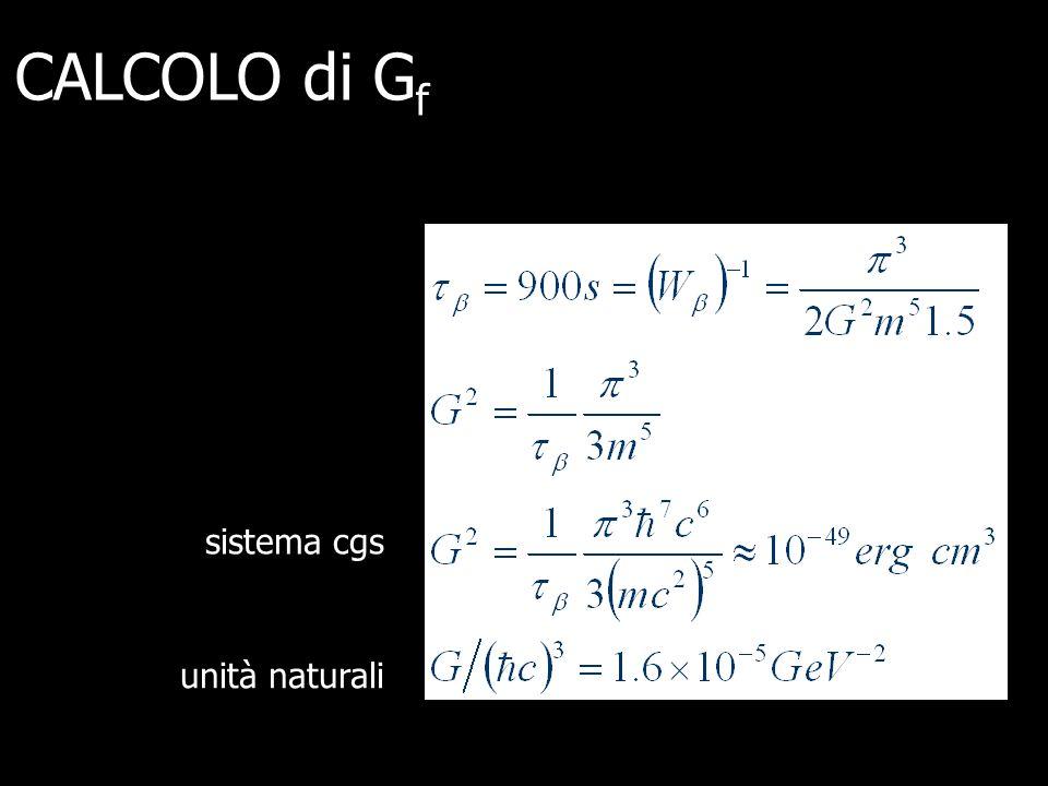 CALCOLO di Gf sistema cgs unità naturali