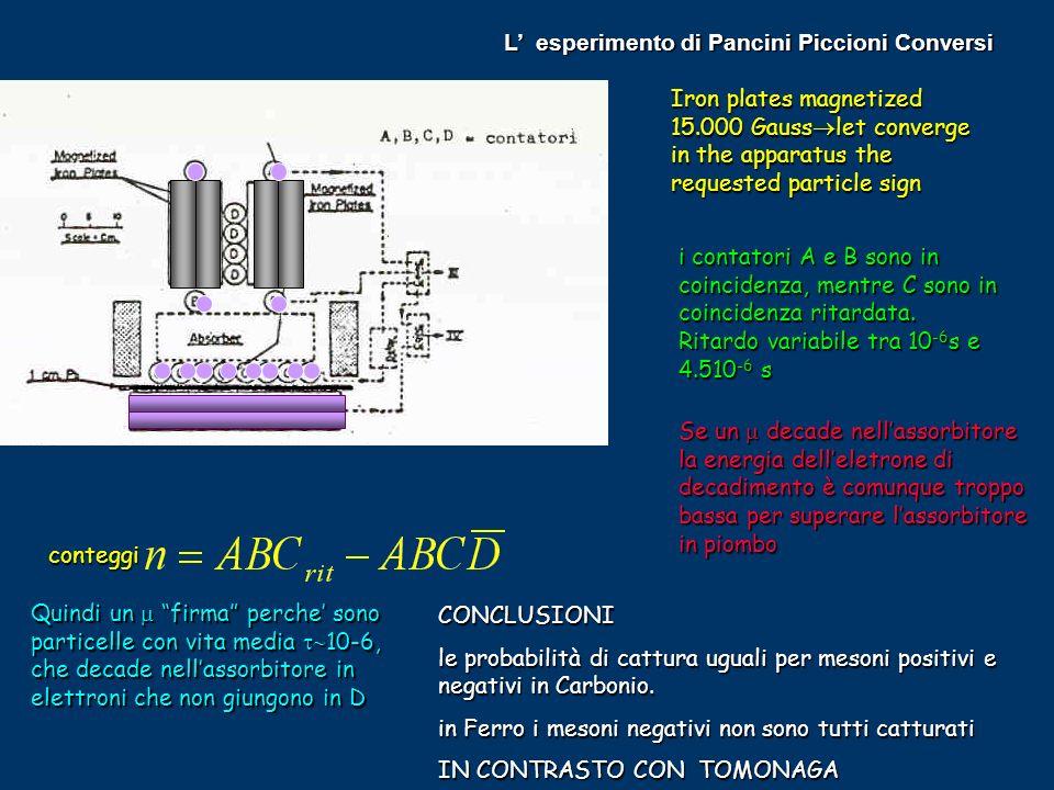 L' esperimento di Pancini Piccioni Conversi
