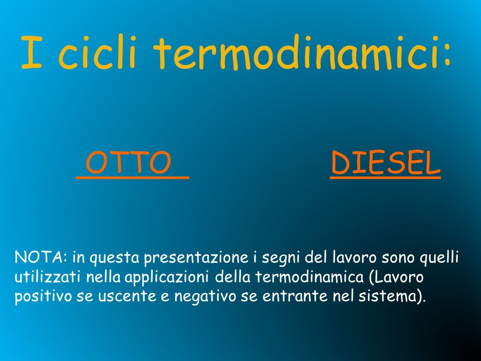 I cicli termodinamici: