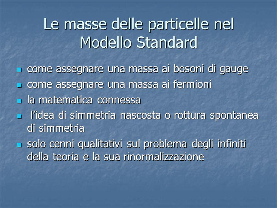Le masse delle particelle nel Modello Standard