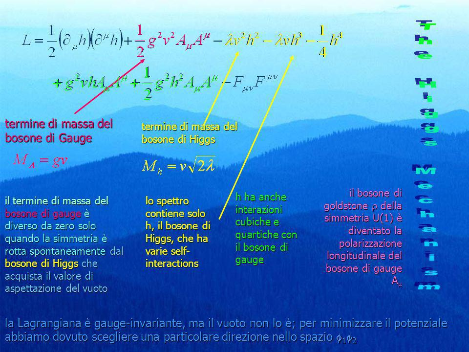 The Higgs Mechanism termine di massa del bosone di Gauge