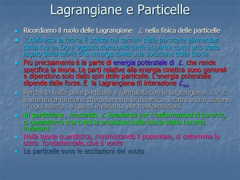 Lagrangiane e Particelle