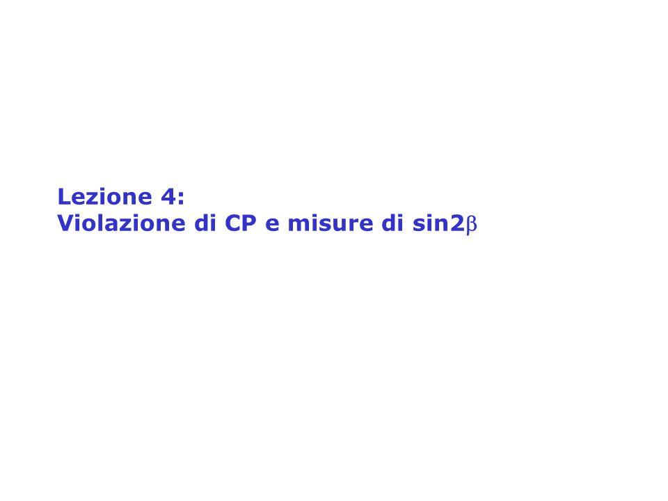 Lezione 4: Violazione di CP e misure di sin2b