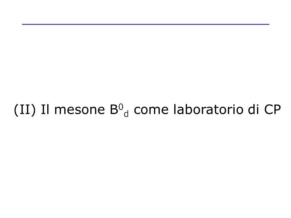 (II) Il mesone B0d come laboratorio di CP