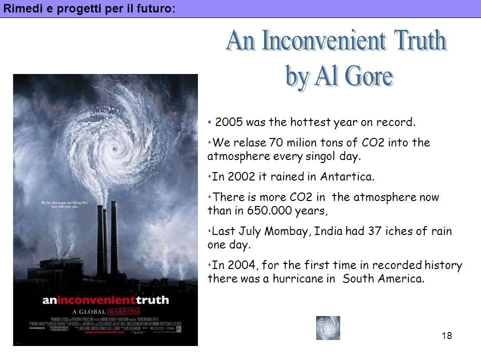 An Inconvenient Truth by Al Gore Rimedi e progetti per il futuro: