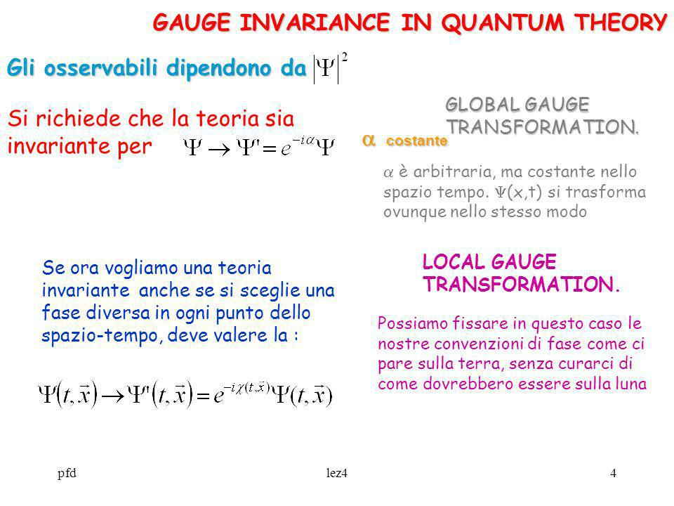 GAUGE INVARIANCE IN QUANTUM THEORY