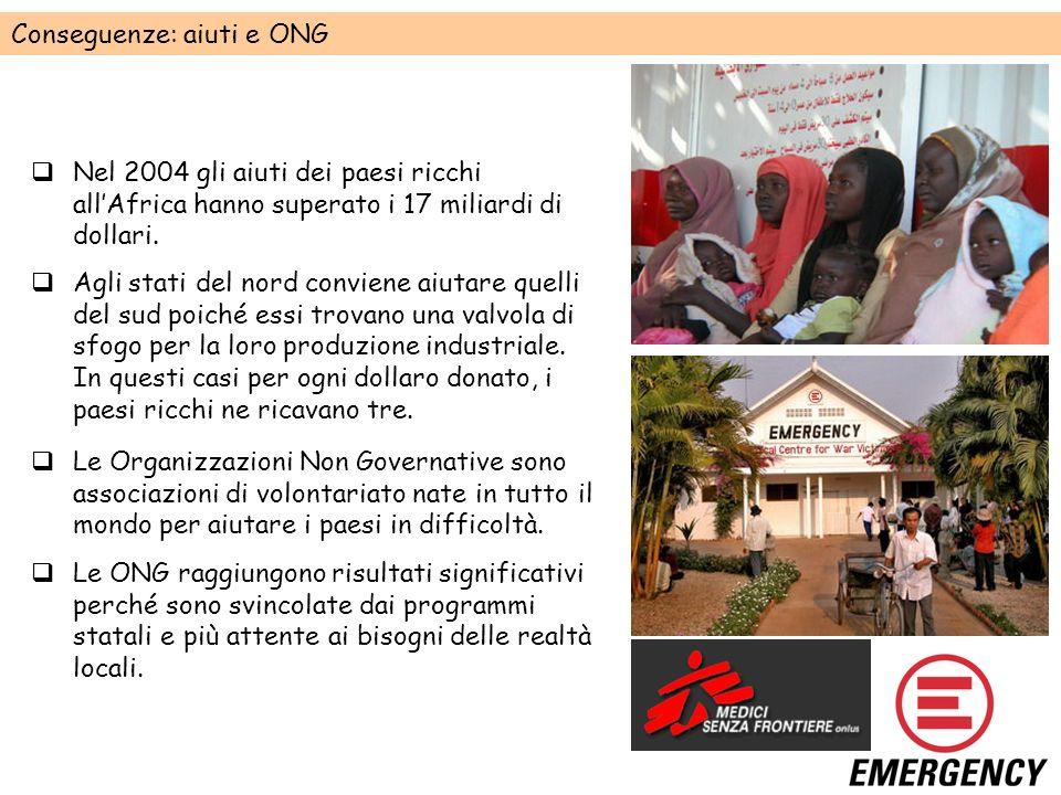 Conseguenze: aiuti e ONG