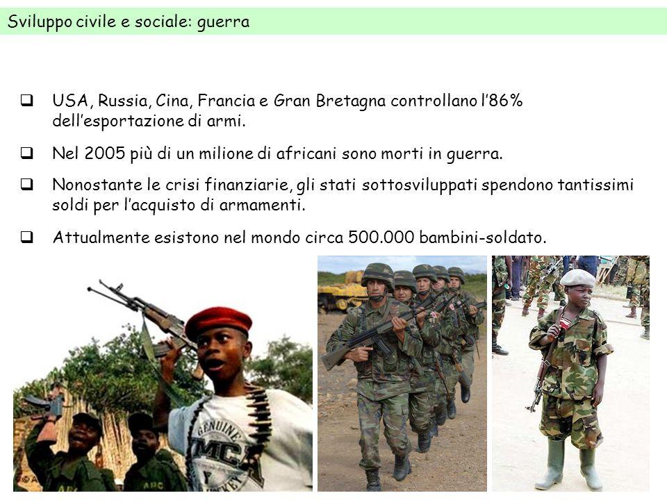 Sviluppo civile e sociale: guerra