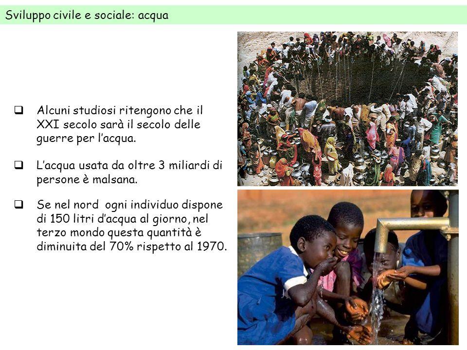 Sviluppo civile e sociale: acqua