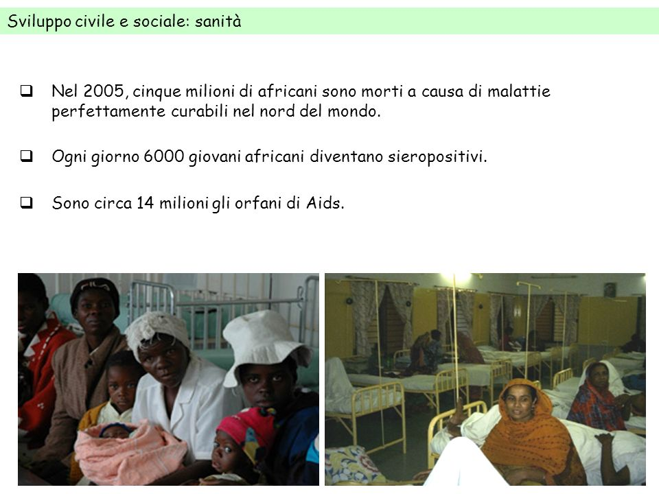 Sviluppo civile e sociale: sanità