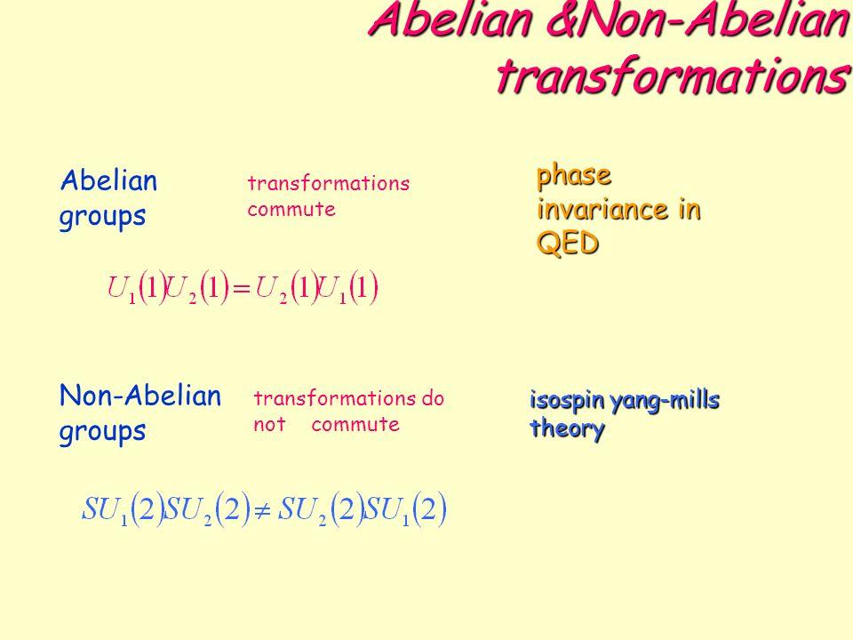 Abelian &Non-Abelian transformations