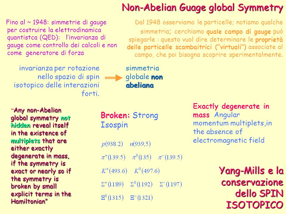 Non-Abelian Guage global Symmetry