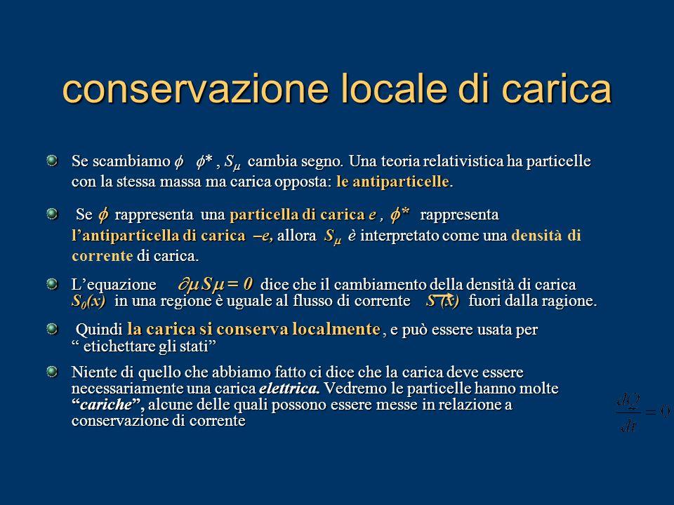 conservazione locale di carica