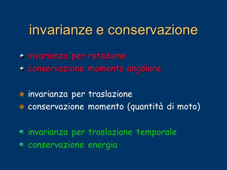 invarianze e conservazione