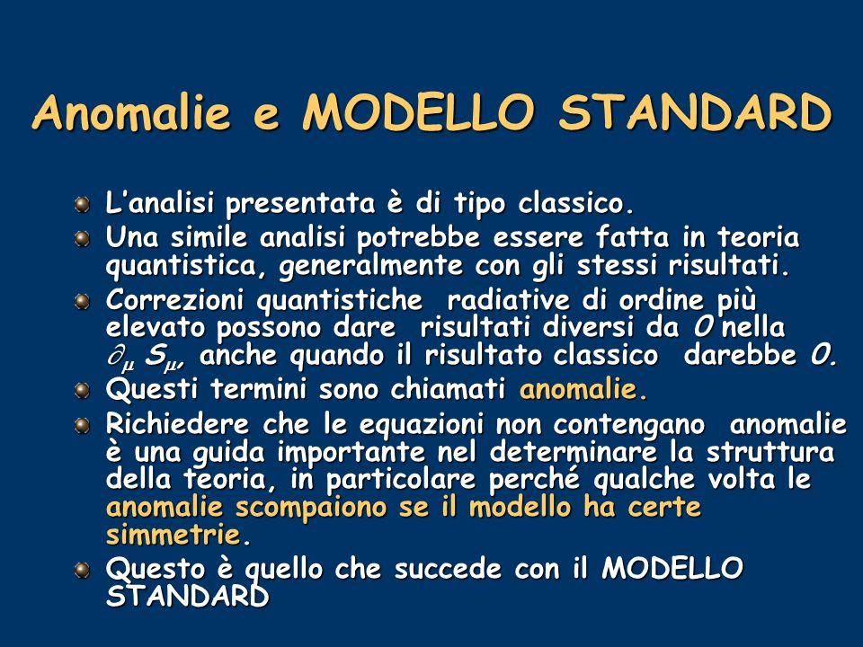 Anomalie e MODELLO STANDARD