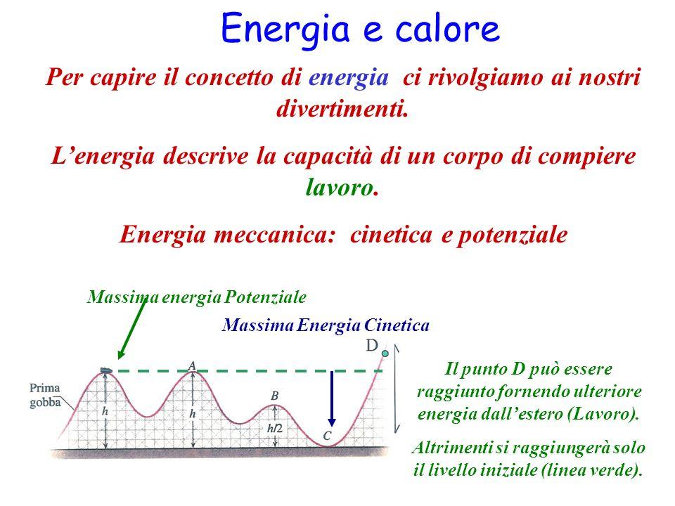 Energia e calore Per capire il concetto di energia ci rivolgiamo ai nostri divertimenti.