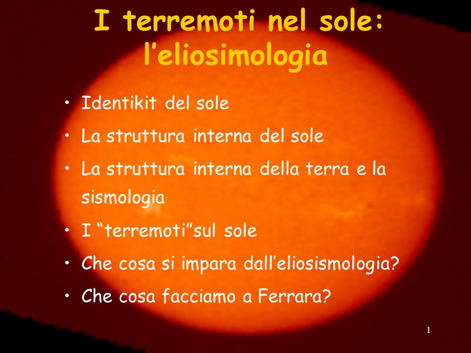 I terremoti nel sole: l'eliosimologia