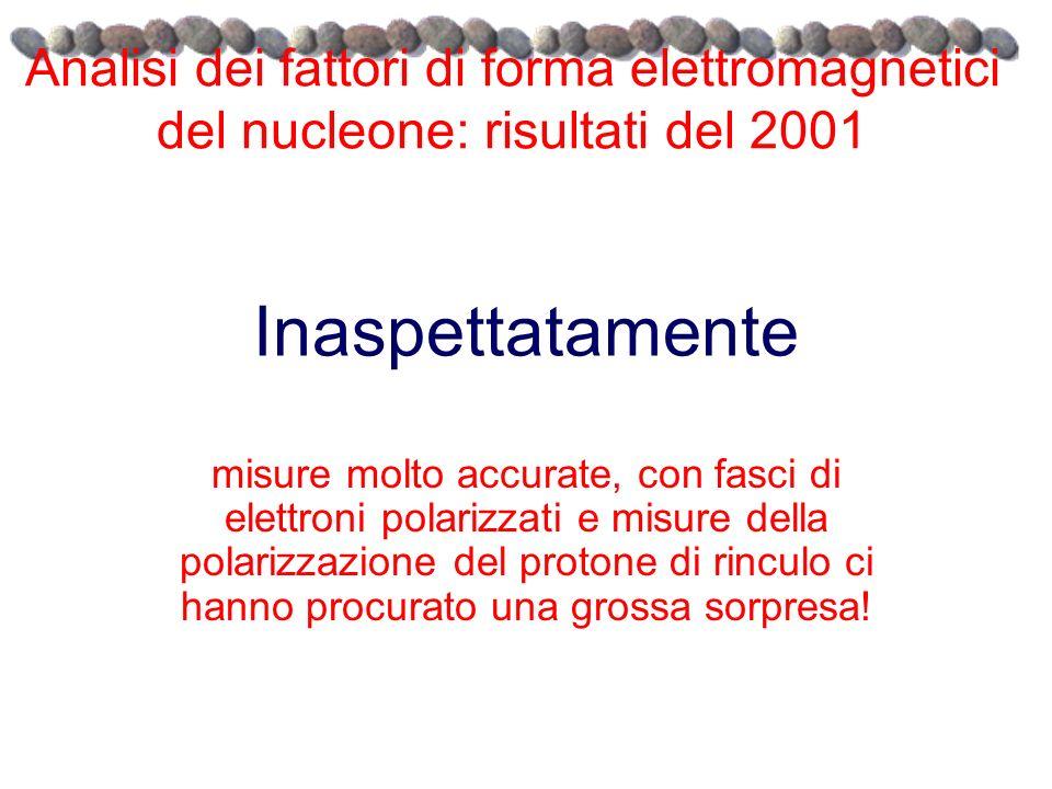 Analisi dei fattori di forma elettromagnetici del nucleone: risultati del 2001