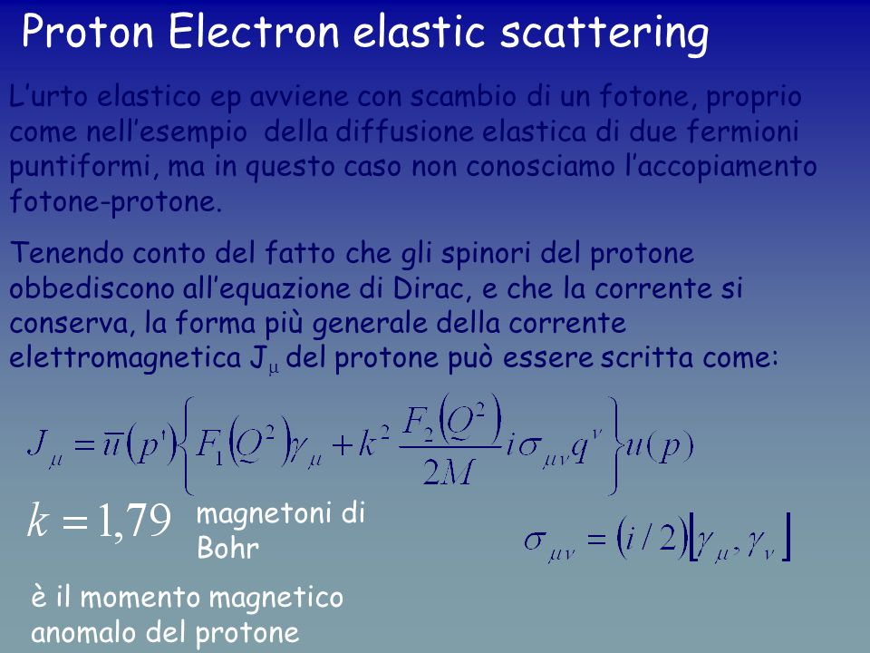Proton Electron elastic scattering