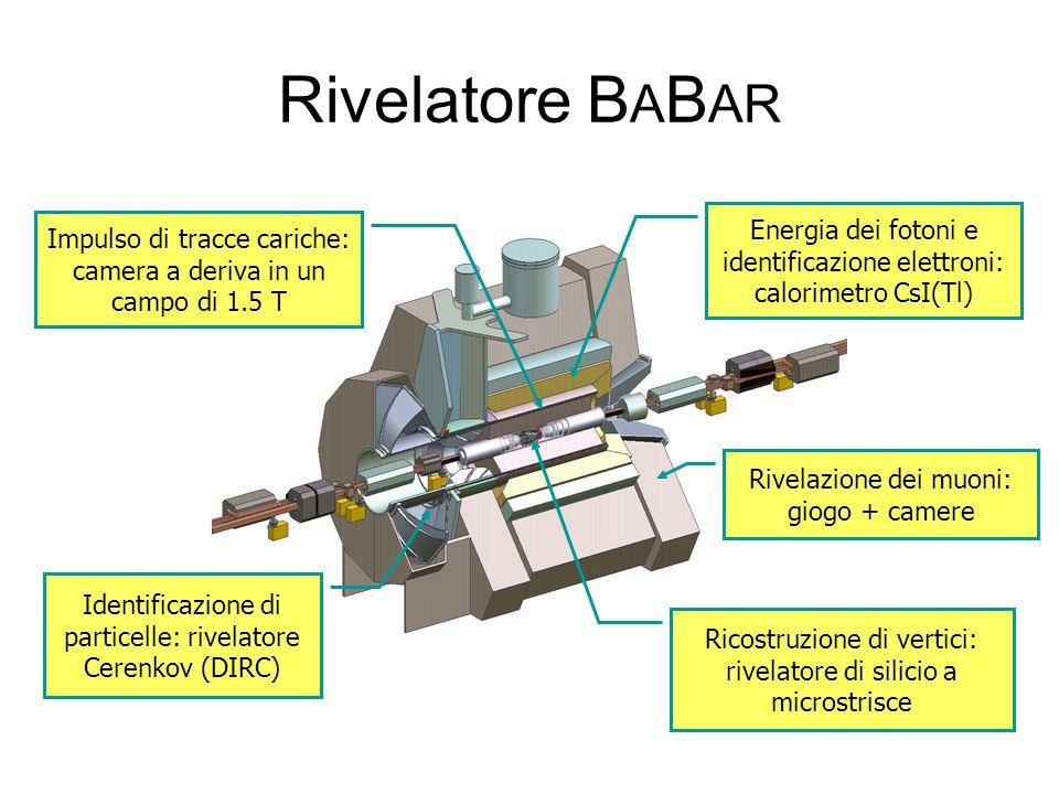 Rivelatore BABAR Energia dei fotoni e identificazione elettroni: calorimetro CsI(Tl)