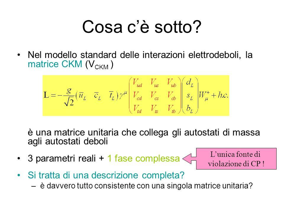 Cosa c'è sotto Nel modello standard delle interazioni elettrodeboli, la matrice CKM (VCKM )