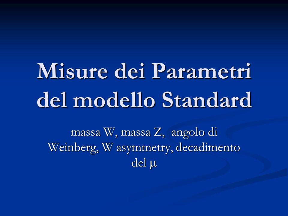 Misure dei Parametri del modello Standard