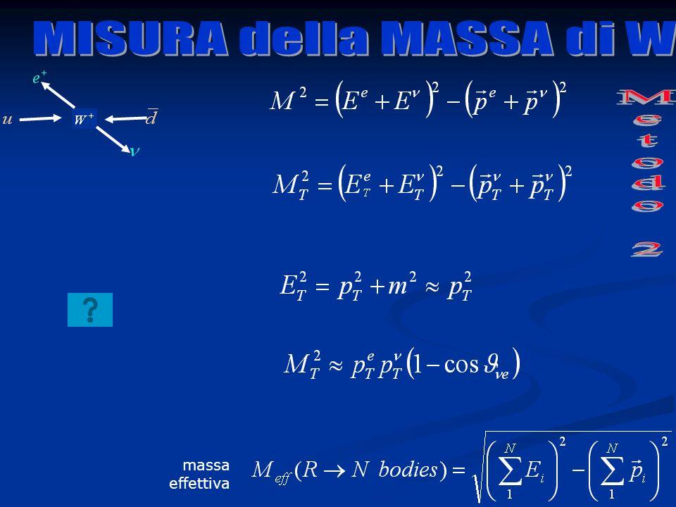 MISURA della MASSA di W Metodo 2 massa effettiva