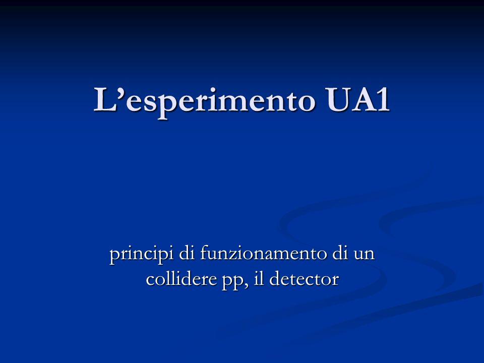 principi di funzionamento di un collidere pp, il detector